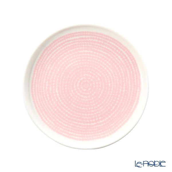 マリメッコ(marimekko) Rasymatto ラシィマット/使い込まれたラグ プレート 13.5cm ホワイト×ピンク 069071-103