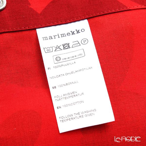 マリメッコ(marimekko) Pieni Unikko ピエニ ウニッコエプロン レッド×ダークレッド 着丈83×身幅83cm コットン 069907-339/19AW