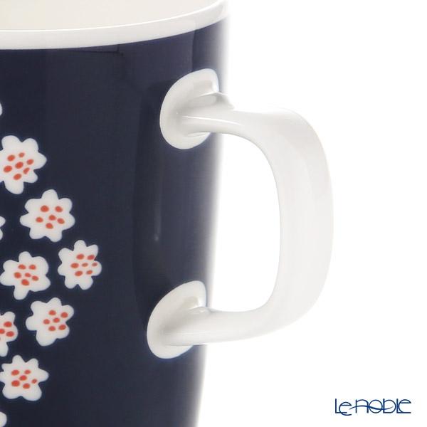 マリメッコ(marimekko) Puketti プケッティ/花束マグカップ(ダークブルー×ホワイト×レッドブラウン) 250ml 068354-513 19AW