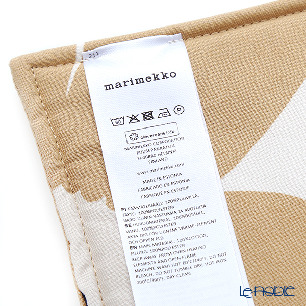 Marimekko Unikko Unicco Pot holder 21 x 21cm white x beige x dark blue cotton 069909-185/20SS