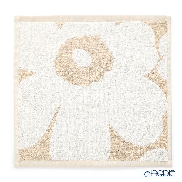 マリメッコ(marimekko) Unikko ウニッコ ミニタオル ベージュ×ホワイト 30×30cm コットン 070233-810