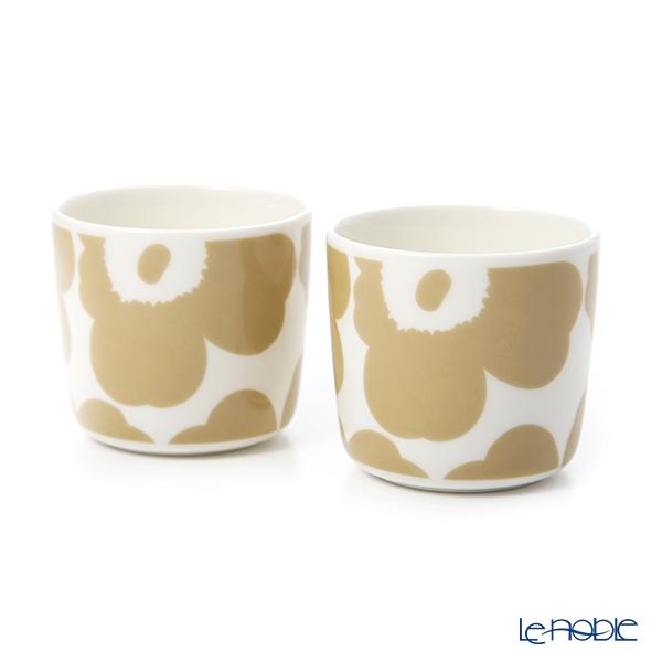 マリメッコ(marimekko) Unikko ウニッコ コーヒーカップ 2Pセット(ハンドル無) ホワイト×ベージュ 070397-180/20SS