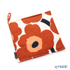 Marimekko 'Unikko / Poppy' White x Brown x Black 070475-884 Pot Holder 21x21cm (Cotton & Hemp)