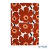 Marimekko 'Unikko / Poppy' White x Brown x Black 070477-884 Tea Towel 47x70cm (Cotton & Hemp)