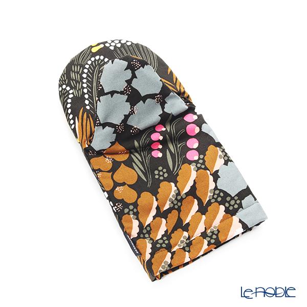 マリメッコ(marimekko) Pieni Letto ピエニ レット/湿原 ミトン/鍋つかみ 31cm(ダークグリーン×ブラウン×ピーチ) 070450-680/20AW コットン