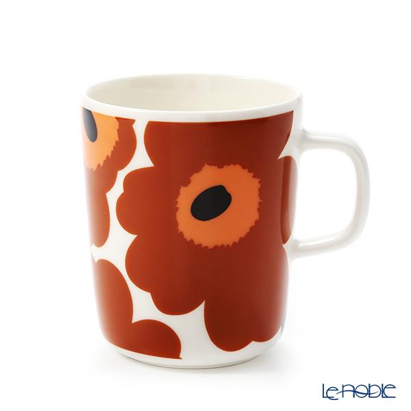 マリメッコ(marimekko) Unikko ウニッコ マグカップ 250ml(ホワイト×ブラウン×ブラック) 070401-189/20AW