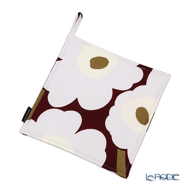 マリメッコ(marimekko) Unikko ウニッコ ポットホルダー21×21cm ダークレッド×ライトグレー×オフホワイト 069909-391/20AW