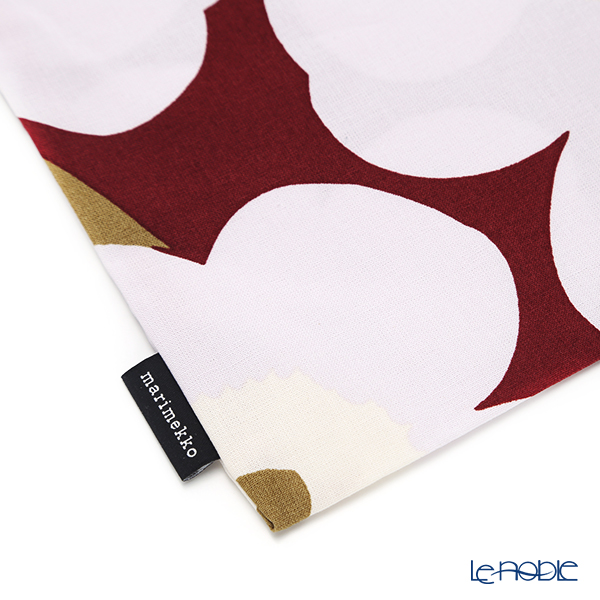Marimekko 'Unikko / Poppy' Dark Red x Light Grey x Off-White 069915-391 Fabric Bag (Cotton)