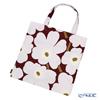 Marimekko 'Unikko / Poppy' Dark Red x Light Grey x Off-White 069915-391 Fabric Bag (Cotton)