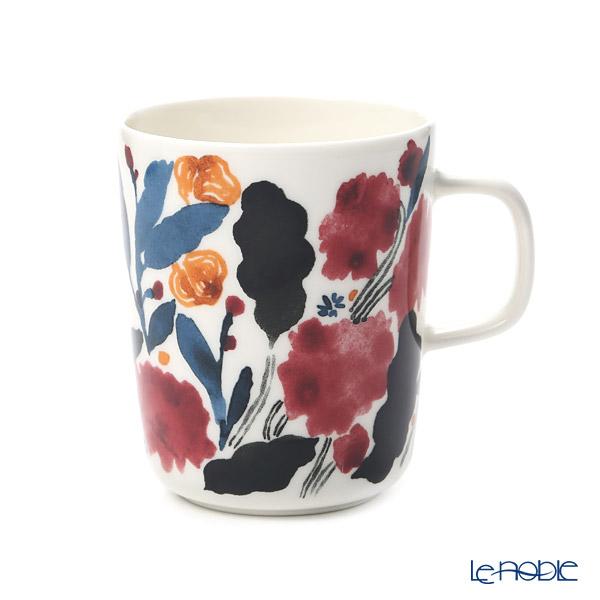 マリメッコ(marimekko)hyhma ヒュフマ/霜マグカップ 250ml (ホワイト×ブルー×レッド) 070608-153/20AW