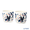 Marimekko 'Hyfma / Frost' 070611-153 White x Blue x Red Coffee Cup without handle (set of 2)