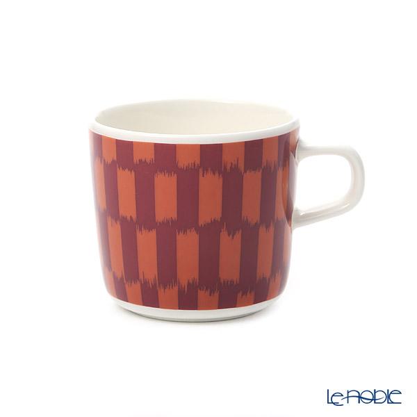 マリメッコ(marimekko) Piekana ピエカナ/ケアシノスリ コーヒーカップ/マグカップ 200ml(ダークレッド×オレンジ) 070612-320/20AW