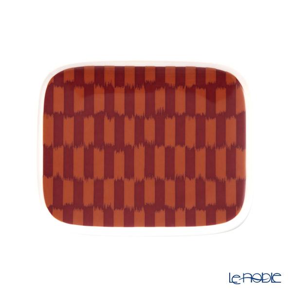 マリメッコ(marimekko) Piekana ピエカナ/ケアシノスリ プレート 15.5×12.5cm (ダークレッド×オレンジ) 070613-320/20AW
