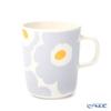 Marimekko 'Unikko / Poppy' White x Light Grey x Gold 070689-198 Mug 250ml