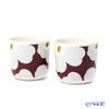 マリメッコ(marimekko) ウニッココーヒーカップセット(ハンドルなし)(ワインレッド×グレー×オリーブ) 070637-396/20AW