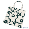 Marimekko 'Pieni Unikko / Poppy' Dark Green x Ivory 070476-681 Fabric Bag (Cotton)