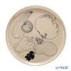 Marimekko 'Tarhuri / Gardener (Fruits & Vegetables)' Terracotta Black 070773-890 Plate 20cm