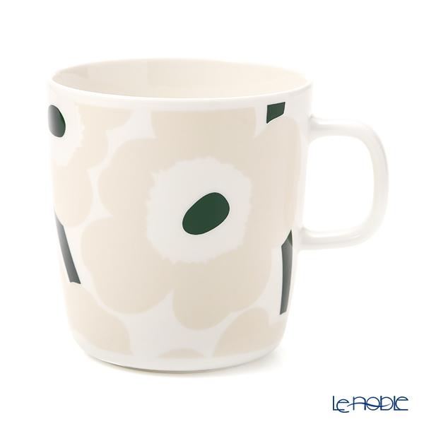 マリメッコ(marimekko) Unikko ウニッコ マグカップ 400ml(ホワイト×ベージュ×ダークグリーン) 070636-186/21SS
