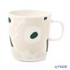 マリメッコ(marimekko) Unikko ウニッコマグカップ 400ml(ホワイト×ベージュ×ダークグリーン) 070636-186/21SS