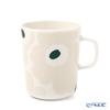 Marimekko 'Unikko / Poppy' White x Beige x Dark Green 070741-186 Mug 250ml