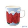 Marimekko 'Mansikkavuoret / Strawberry' Red x Blue x White 070783-135 Mug 250ml