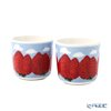 Marimekko 'Mansikkavuoret / Strawberry' Red x Blue x White 070784-135 Coffee Cup without handle (set of 2)