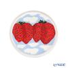 Marimekko 'Mansikkavuoret / Strawberry' Red x Blue x White 070786-135 Plate 13.5cm