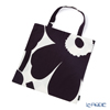 Marimekko 'Unikko / Poppy' White x Dark Purple 071002-901 Fabric Bag (Cotton)