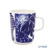 マリメッコ(marimekko) Ruudut ルードゥット/正方形マグカップ 250ml ブルー×ホワイト 070739-150/21SS