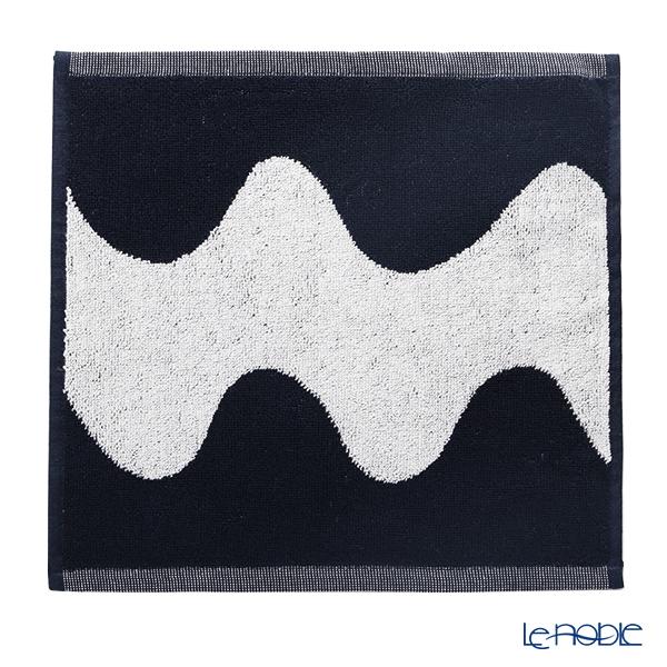 マリメッコ(marimekko) Lokki ロッキ/カモメ ミニタオル 30×30cm コットン ダークブルー×オフホワイト 070947-150/21AW