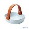 Marimekko 'Pikku Koppa / Oiva' Aqua Blue 071191-500 Ceramic Basket with Leather Handle 12x13cm