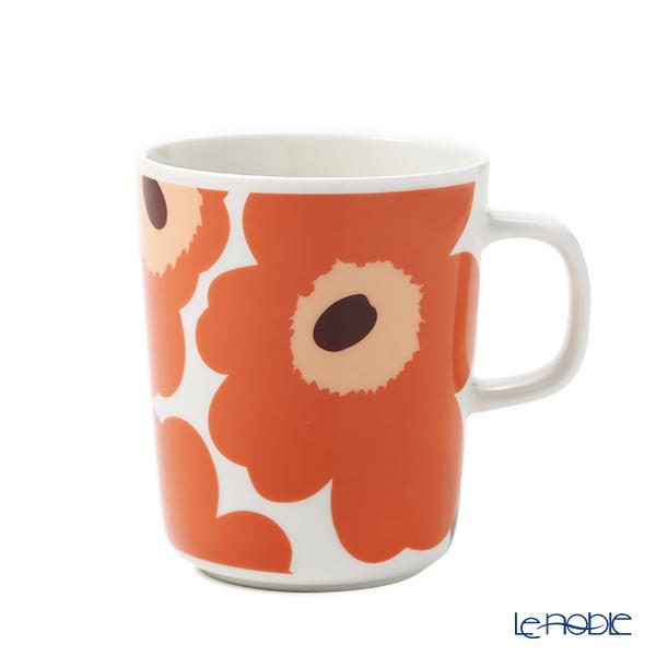 マリメッコ(marimekko) Unikko ウニッコ/けしの花 マグカップ 250ml ホワイト×アプリコット×ダークブラウン 070741-128/21AW