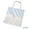 Marimekko 'Silkkikuikka / Silk Worm' Cotton White x Light Blue 071168-801 Fabric Bag (Cotton)