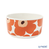 Marimekko 'Unikko / Poppy' White x Apricot x Dark Brown 070638-128 Bowl 500ml