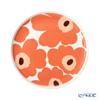 マリメッコ(marimekko) Unikko ウニッコ/けしの花プレート 20cm ホワイト×アプリコット×ダークブラウン 070763-128/21AW