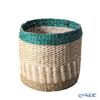 Marimekko 'Silkkikuikka / Silk Worm' Brown & White & Green 071346-800 Storage Basket H24cm