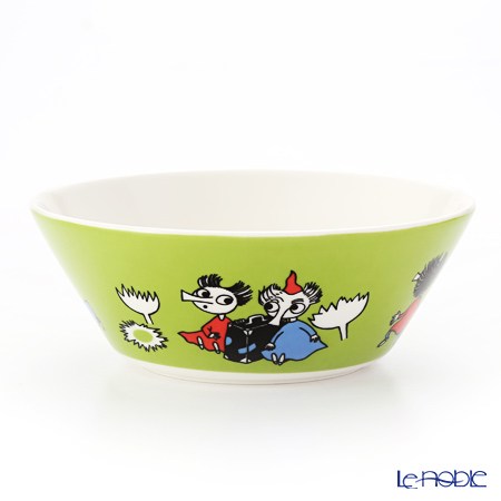 Arabia Moomin Classics - Thingumy and Bob Bowl 15cm, green