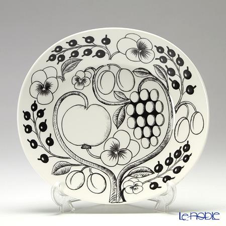 Arabia Black Paratiisi Plate oval 25 cm