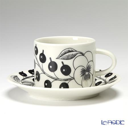 アラビア(ARABIA) パラティッシ ブラック コーヒーカップ&ソーサー 180cc