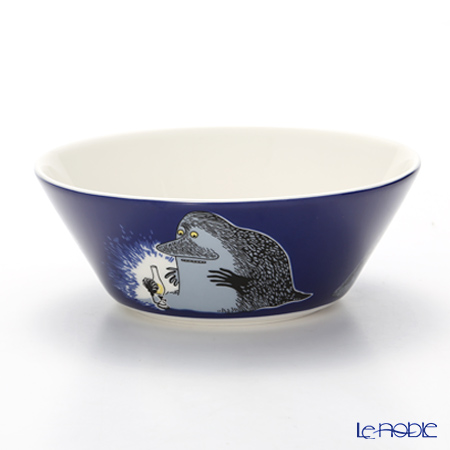 Arabia Moomin Classics - The Groke Bowl 15cm, dark blue, 2005