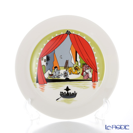 Arabia Moomin Seasonal - Welcome to Summer Theater with Moomins Plate 19cm [Limited Item in Summer 2017]