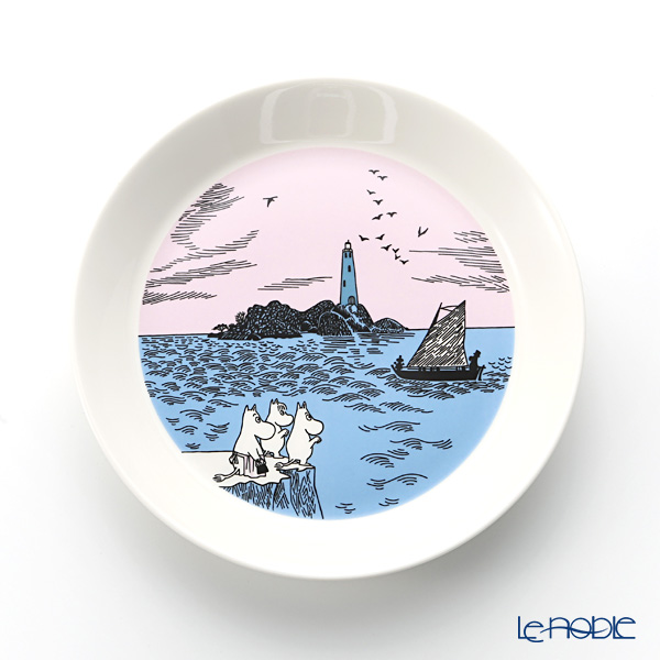 Arabia 'Moomin Collector's Plates - No.4 Night Sail & Peace' [Sold only in Finland, 2017] Plate 19.5cm (set of 2 patterns)