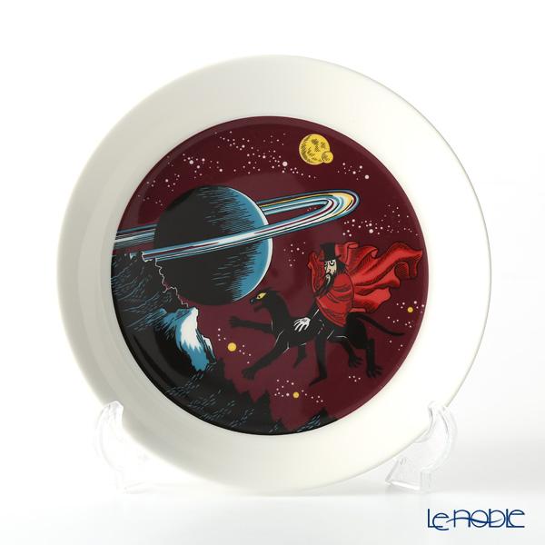 Arabia 'Moomin Classics - Hobgoblin Reddish' Purple Plate 19.5cm