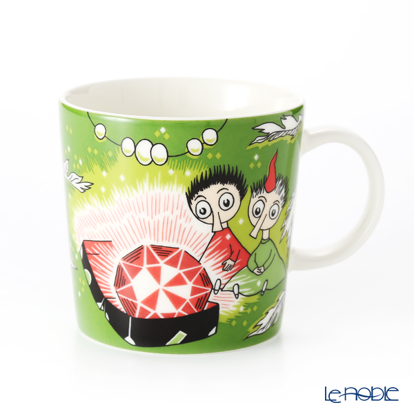 Arabia 'Moomin Classics - Thingumy and Bob' Green Mug 300ml