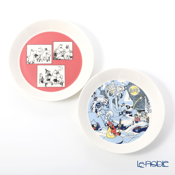 Arabia 'Moomin Collector's Plates - No.5 Rose & Millennium' Plate 19.5cm (set of 2 patterns) [Sold only in Finland, 2018]