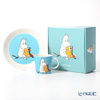 Arabia 'Moomin Classics - Moomintroll' Turquoise Blue Mug, Plate (set of 2)