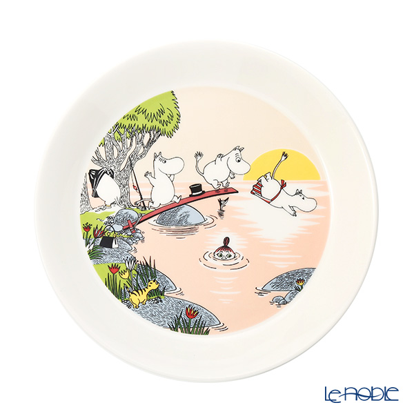 Arabia Moomin Seasonal - Evening Swim Plate 19cm [Limited Item in Summer 2019]