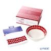 Arabia '24h Tuokio' Red 1056718 Cereal Bowl 18cm, Cotton & Linen blend Tea Towel 43x67cm (set of 2)