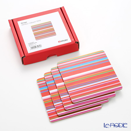 イッタラ(iittala) オリゴ レッドコースター 10cm 4枚セット