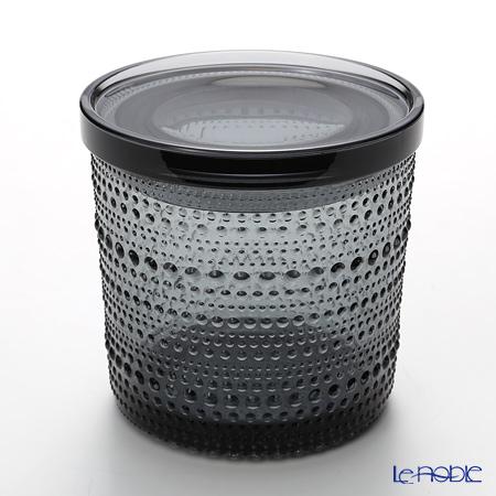 イッタラ(iittala) カステヘルミ 蓋付ジャー グレー 大 (蓋はプラスチック製)